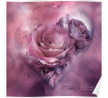 Heart Of A Rose - Mauve Lavender Poster