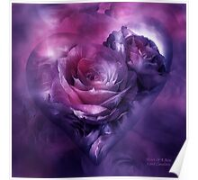 Heart Of A Rose - Burgundy Purple Poster