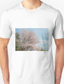 cherry blossoms and blue sky Unisex T-Shirt