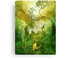 Unicorn Of The Forest Canvas Print