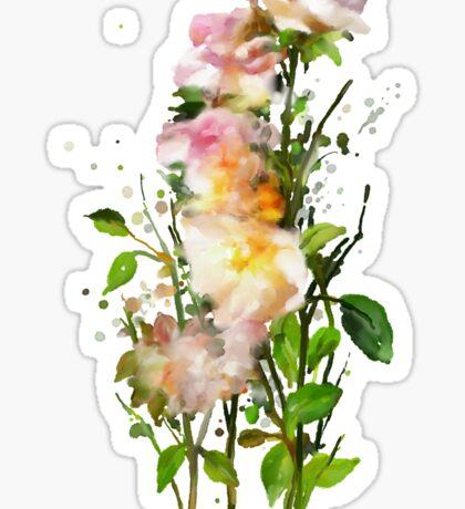 Yellow Wild Roses Sticker