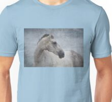 Grey Horse At The Beach Textured Unisex T-Shirt