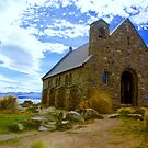 Good Shepherd Church, Lake Tekapo, New Zealand by Barbara  Brown