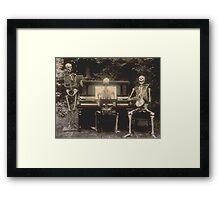 Victorian Skeletal Vignette Framed Print