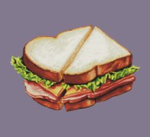 Ham Sandwich Pattern Kids Tee