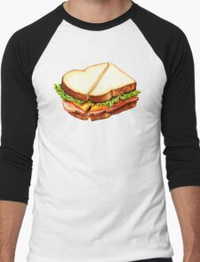 Ham Sandwich Pattern Men's Baseball ¾ T-Shirt