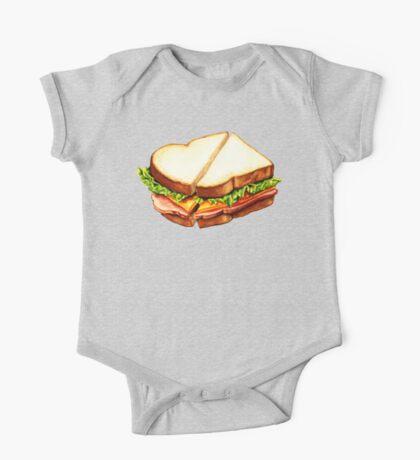 Ham Sandwich Pattern One Piece - Short Sleeve