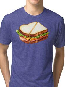 Ham Sandwich Pattern Tri-blend T-Shirt