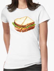 Ham Sandwich Pattern Womens Fitted T-Shirt