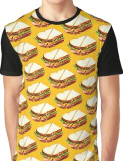 Ham Sandwich Pattern Graphic T-Shirt