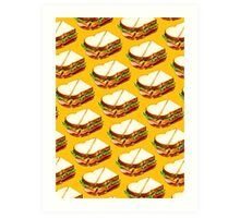 Ham Sandwich Pattern Art Print