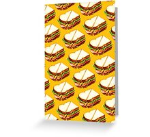 Ham Sandwich Pattern Greeting Card