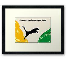 Corporate Servitude Framed Print