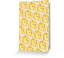 Cheese Pattern - White Greeting Card
