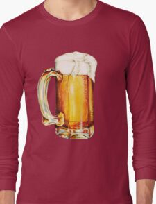 St. Patricks Day - Beer Pattern Long Sleeve T-Shirt