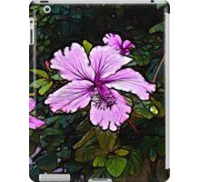 Lavender Abstract Flower Scene  iPad Case/Skin