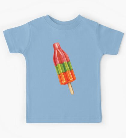 Spicy Bomb Popsicle Pattern Kids Tee