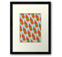 Spicy Bomb Popsicle Pattern Framed Print