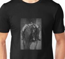 Halt - Black and White Horse Photograph Unisex T-Shirt