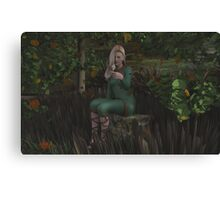 Friend in the Forest Canvas Print