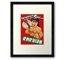 Splatfest Team Barbarian v.3 Framed Print