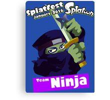 Splatfest Team Ninja v.1 Canvas Print