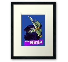Splatfest Team Ninja v.2 Framed Print