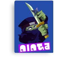 Splatfest Team Ninja v.4 Canvas Print