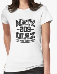 Nate Diaz UFC 209 Black Womens Fitted T-Shirt