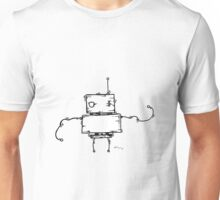 PEA the robot - white BG Unisex T-Shirt
