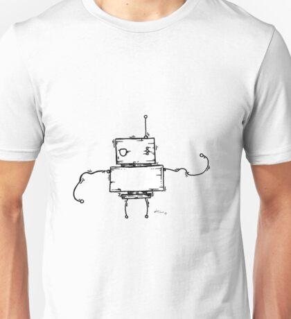 PEA the robot - white BG Unisex T-Shirt
