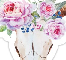 Boho skull with roses Sticker
