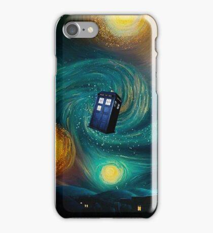 Starry Night Tardis Art Painting iPhone Case/Skin