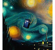 Starry Night Tardis Art Painting Photographic Print