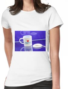 coffee cup Womens Fitted T-Shirt