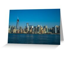 Manhattan view from Hudson Greeting Card