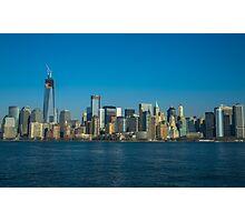 Manhattan view from Hudson Photographic Print