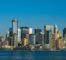 Manhattan view from Hudson Sticker