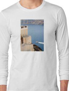 Santorini. Boat Crossing Long Sleeve T-Shirt