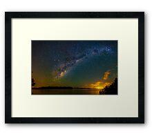 Milky Way Lake Weyba Framed Print
