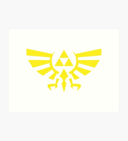 Zelda Triforce Art Print