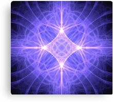 Fractal Star With Light Canvas Print