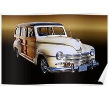 1949 Plymouth Special Deluxe Woodie Wagon Poster