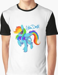 "Rainbow Dash ""Gotta dash!"" Graphic T-Shirt"