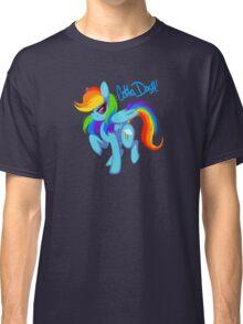 "Rainbow Dash ""Gotta dash!"" Classic T-Shirt"