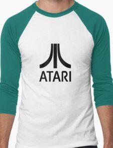 Atari Black Men's Baseball ¾ T-Shirt