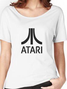 Atari Black Women's Relaxed Fit T-Shirt