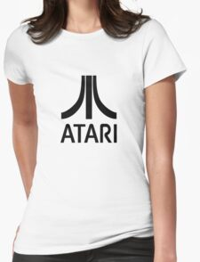 Atari Black Womens Fitted T-Shirt
