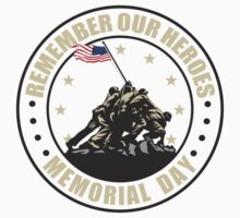 Remember Our Heroes - Memorial Day One Piece - Short Sleeve