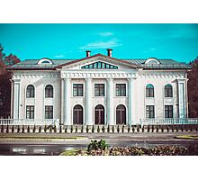Beautiful white house in the park Photographic Print